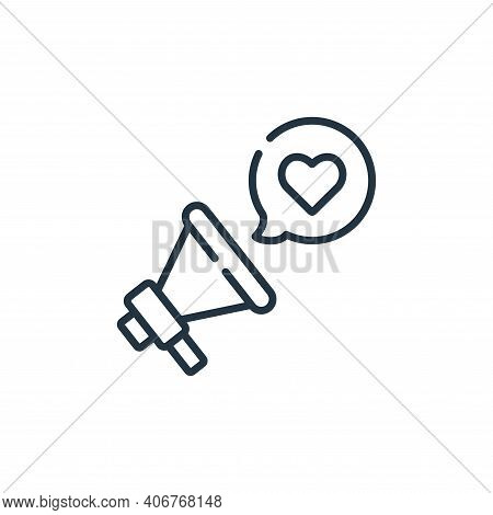 megaphone icon isolated on white background from kindness collection. megaphone icon thin line outli