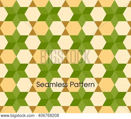 Seamless Pattern With Geometrical Intricate Shapes Of Islamic Designs.