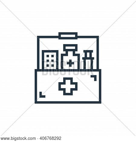 meds icon isolated on white background from hospital collection. meds icon thin line outline linear