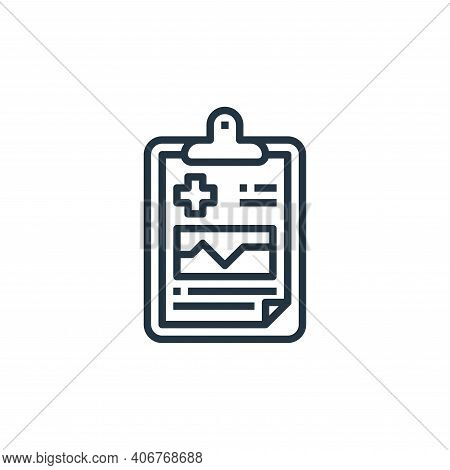 medical result icon isolated on white background from hospital collection. medical result icon thin