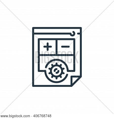 medical report icon isolated on white background from virus transmission collection. medical report