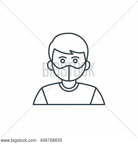 medical mask icon isolated on white background from coronavirus covid collection. medical mask icon