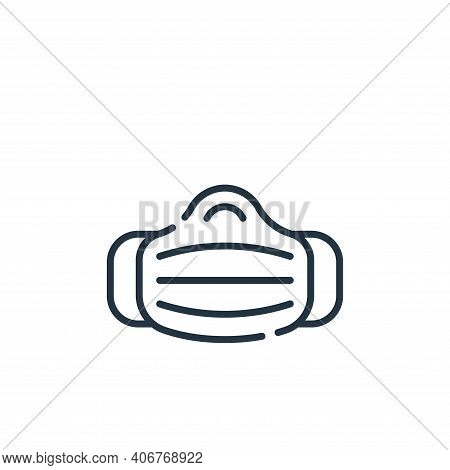 medical mask icon isolated on white background from allergies collection. medical mask icon thin lin