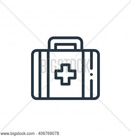 medical kit icon isolated on white background from medicine collection. medical kit icon thin line o