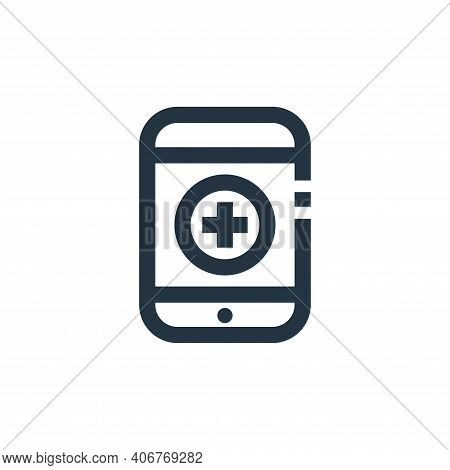 medical app icon isolated on white background from medical kit collection. medical app icon thin lin