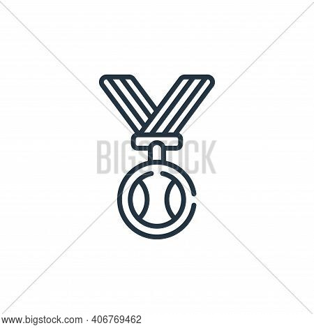 medal icon isolated on white background from baseball collection. medal icon thin line outline linea