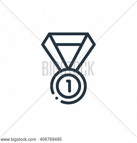 medal icon isolated on white background from autoracing collection. medal icon thin line outline lin