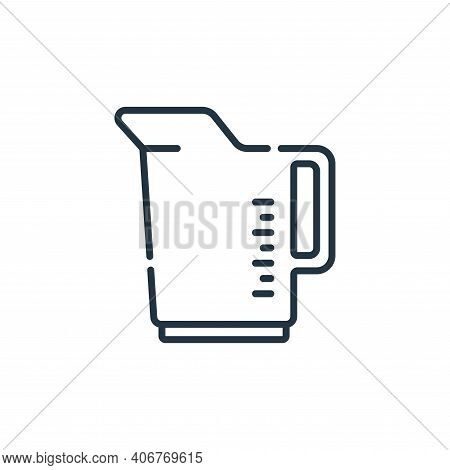 measuring cup icon isolated on white background from plastic products collection. measuring cup icon