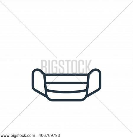 mask icon isolated on white background from pandemic collection. mask icon thin line outline linear