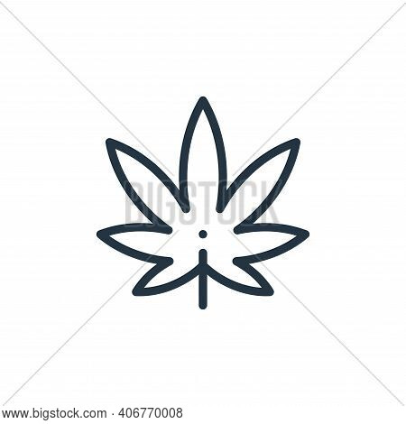 Marijuana icon isolated on white background from holland collection. Marijuana icon thin line outlin