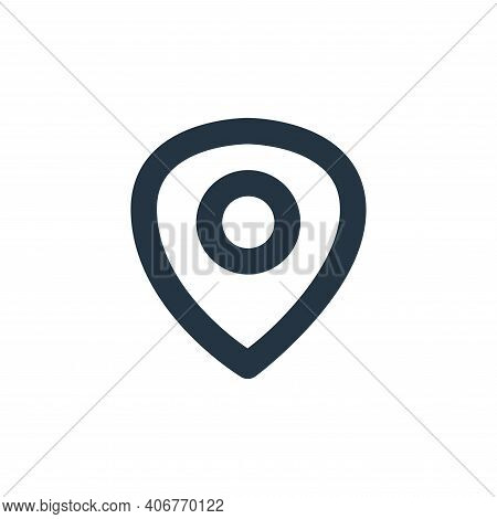 maps icon isolated on white background from user interface collection. maps icon thin line outline l