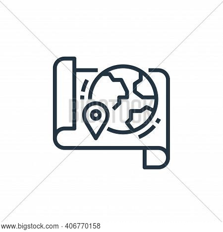 map icon isolated on white background from travel collection. map icon thin line outline linear map