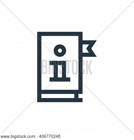 manual icon isolated on white background from job resume collection. manual icon thin line outline l