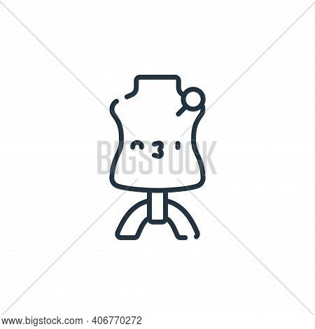 mannequin icon isolated on white background from italy collection. mannequin icon thin line outline