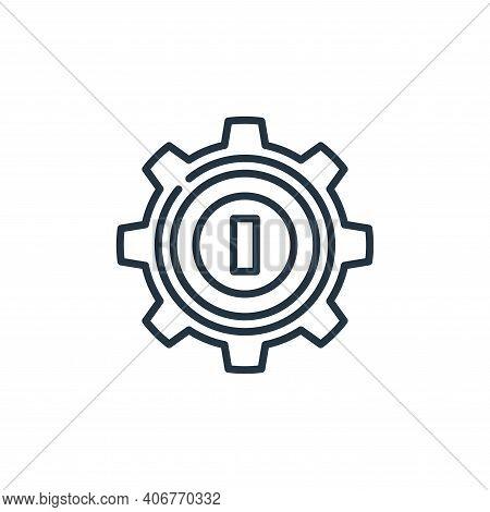 management icon isolated on white background from management collection. management icon thin line o