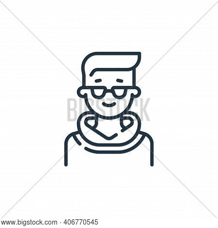 man icon isolated on white background from fame collection. man icon thin line outline linear man sy