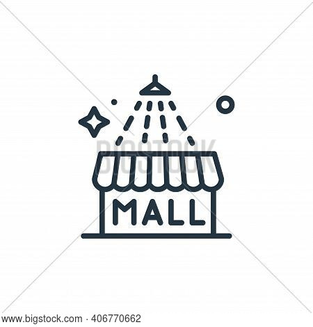 mall icon isolated on white background from mass disinfection collection. mall icon thin line outlin