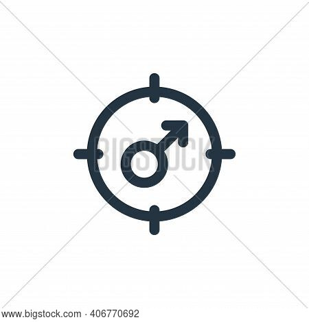 male icon isolated on white background from web apps seo collection. male icon thin line outline lin