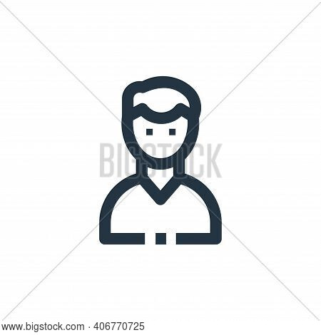 male icon isolated on white background from medical kit collection. male icon thin line outline line
