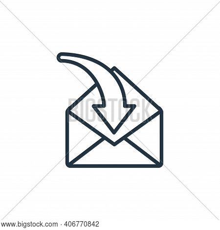 mail icon isolated on white background from communication collection. mail icon thin line outline li
