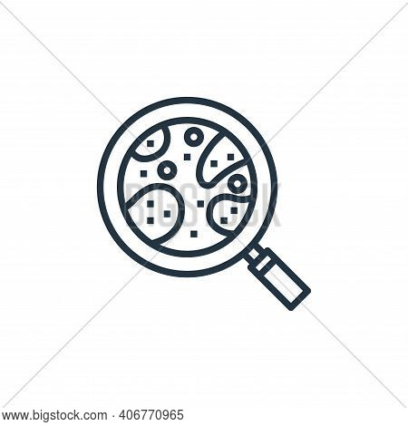 magnifying icon isolated on white background from hospital collection. magnifying icon thin line out