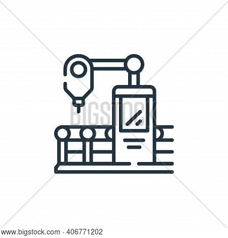 machine icon isolated on white background from industrial process collection. machine icon thin line