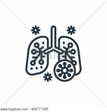 lung icon isolated on white background from coronavirus collection. lung icon thin line outline line