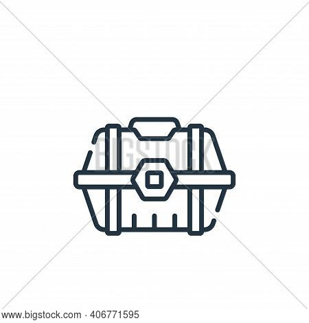 loot box icon isolated on white background from videogame collection. loot box icon thin line outlin