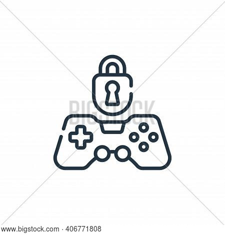 locked icon isolated on white background from videogame collection. locked icon thin line outline li