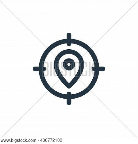 location icon isolated on white background from web apps seo collection. location icon thin line out