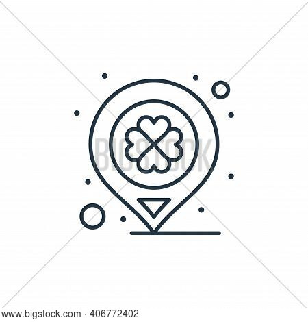 location icon isolated on white background from saint patrick collection. location icon thin line ou