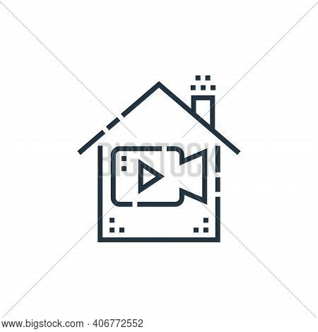 live icon isolated on white background from smarthome collection. live icon thin line outline linear