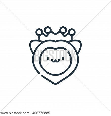 lion icon isolated on white background from reggae collection. lion icon thin line outline linear li