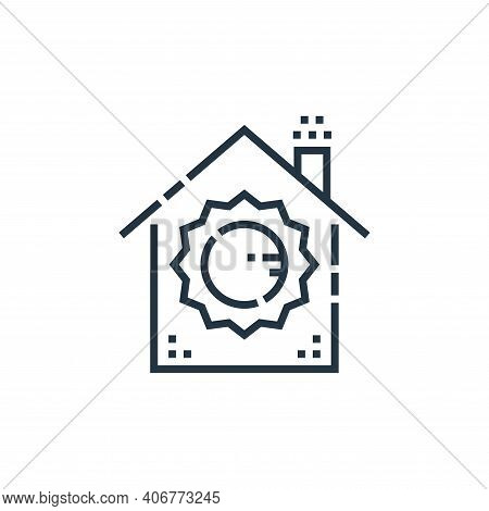light control icon isolated on white background from smarthome collection. light control icon thin l