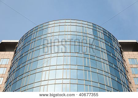 Curved Modern Office Building