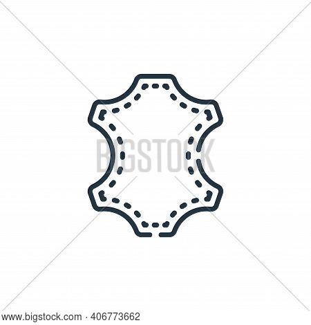 leather icon isolated on white background from sewing collection. leather icon thin line outline lin