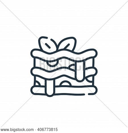 lasagna icon isolated on white background from italy collection. lasagna icon thin line outline line