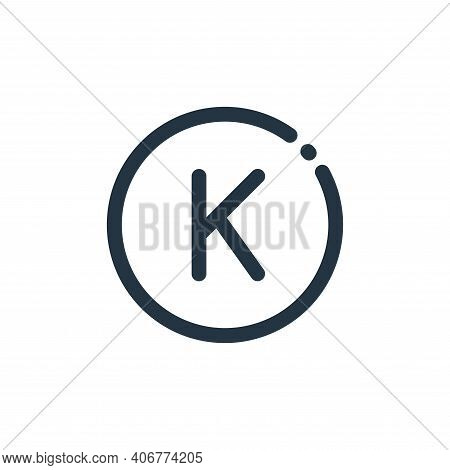 laos icon isolated on white background from currency collection. laos icon thin line outline linear