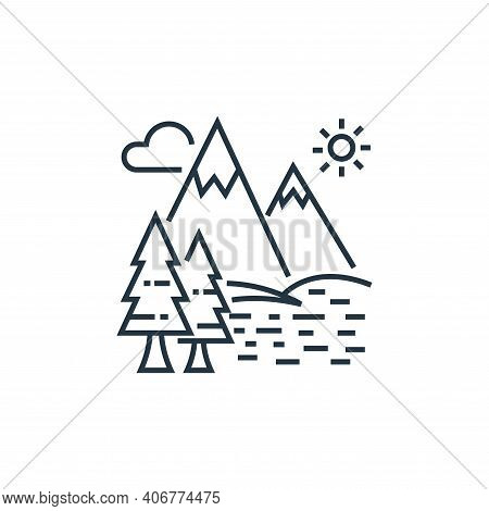 lake icon isolated on white background from tourism collection. lake icon thin line outline linear l