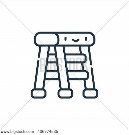ladder icon isolated on white background from electrician tools and elements collection. ladder icon