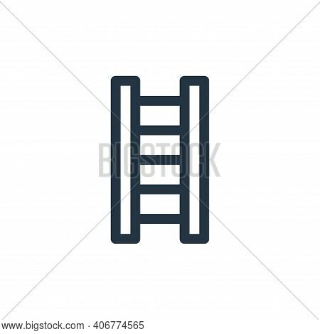 ladder icon isolated on white background from labour day collection. ladder icon thin line outline l