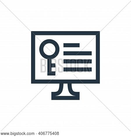keywords icon isolated on white background from job resume collection. keywords icon thin line outli