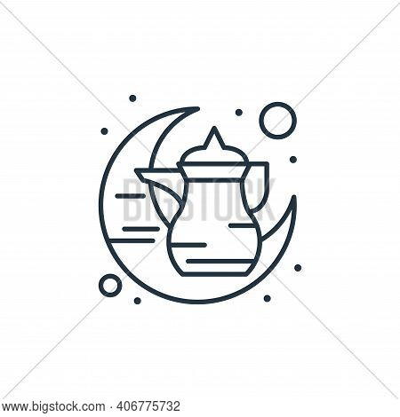 kettle icon isolated on white background from islam and ramadan collection. kettle icon thin line ou