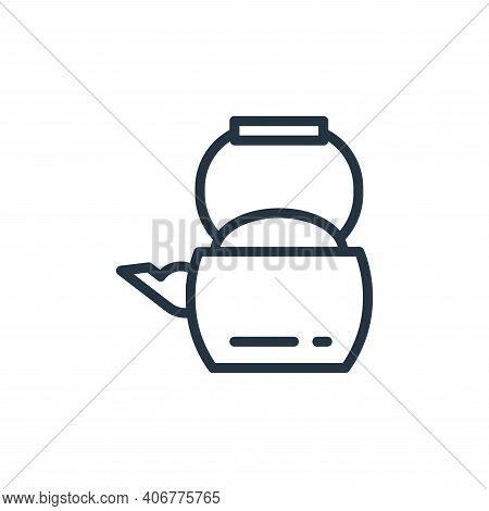 kettle icon isolated on white background from food collection. kettle icon thin line outline linear