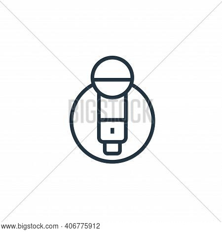 karaoke icon isolated on white background from stay at home collection. karaoke icon thin line outli