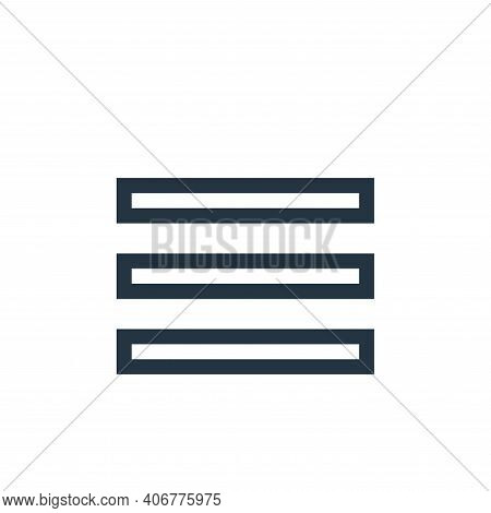 justify text icon isolated on white background from text editor collection. justify text icon thin l
