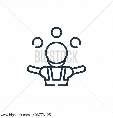 juggler icon isolated on white background from circus collection. juggler icon thin line outline lin