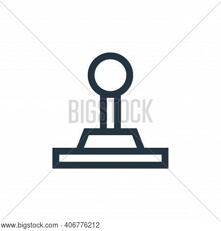 joystick icon isolated on white background from video game elements collection. joystick icon thin l