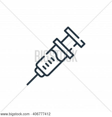 injection icon isolated on white background from allergies collection. injection icon thin line outl