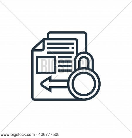 information icon isolated on white background from confidential information collection. information
